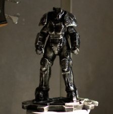 Fallout X-01 Enclave Power Armor Statue Weathered Black Stylization