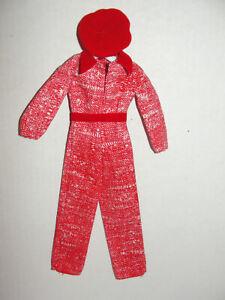 Barbie Doll Best Buy Fashion #9625 Red Tweed Jumpsuit & Hat 1977
