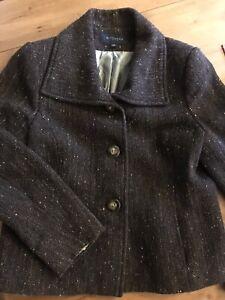 Witchery Wool Blend Tweed Jacket Size 14 Fit Size 12