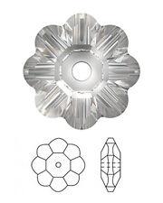 2 SWAROVSKI FOIL-BACKED DAISY MARGUERITE LOCHROSE FLOWER SPACER BEADS 3700, 12MM