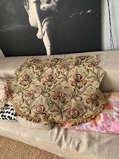 Tissu Ancien Iris Lin Rideau Antique Art Nouveau Linen Tapestry Fabric Curtain