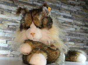 (EJM) Steiff Katze Pharao 099212 ca 42 cm braun creme