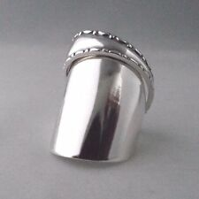 Spoon Ring Sterling Silver Beautiful Handmade Spiral dated 1934 Unusual Design