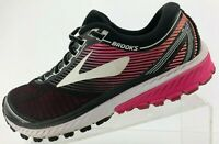 Brooks Ghost 10 Running Shoes Black Pink Training Sneakers Womens US 9.5 B