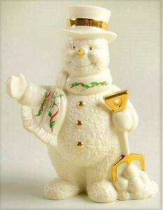 Weihnachten Lenox Urlaub Schneemann Groß Porzellan Figur Retired Geschenk Heim