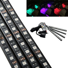 A1 4x 12-SMD RGB Multi-Color LED Strips Atmosphere Lamp Interior Light Kit Music