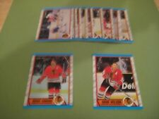 1989/90 O-Pee-Chee OPC Chicago Blackhawks Team Set