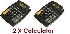 2 X Jumbo Escritorio Calculadora Grande Botones Teclas Solar De Batería Memoria Hogar Oficina