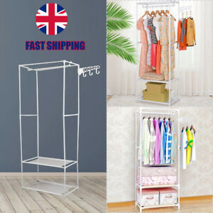 Heavy Duty Clothes Rail Rack Garment Hanging Display Stand Shoe Shelves Storage