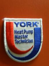 New ListingYork heating and air conditioning heat pump master technician patch