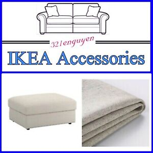 IKEA VIMLE Footstool Ottoman w/Storage COVER ONLY 103.511.20 Gunnared Beige