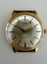 DIFOR - montre homme mécanique 17 rubis plaqué or 20 M Vintage Men's Watch 50'S