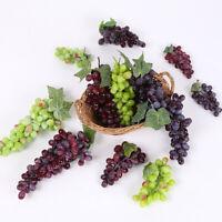 1 Bunch Fake Grape Artificial Plastic Lifelike Faux Fruit Home Garden Decor DEN