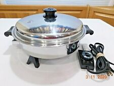 "SALADMASTER 11"" Electric Skillet Fry Pan Stainless Steel 7817 Liquid Core MINTY"