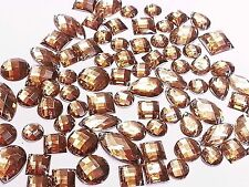 50 SMOKY BRUN Facettes Acrylique à coudre, à coller sur cristal strass gemmes