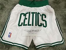 Boston Celtics Throwback Retro Basketball Shorts White Just USA SHIPPING