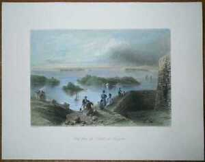 1842 Bartlett print CANADA: VIEW FROM CITADEL OF KINGSTON, ONTARIO (#19)