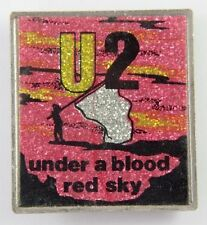 U2 'Under a Blood Red Sky' Vintage Glittery Lapel Badge