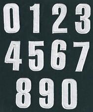 Número números para flocado / parche letras termoadhesivo termofusible BLANCO