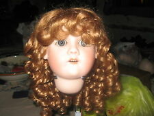 SIZE 7 AUBURN SARA  ANTIQUE MODERN DOLL WIGS  SYNTHETIC MOHAIR