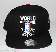 Mitchell and Ness Chicago Bulls 11 XI 72-10 Jordan Black Red Snapback Cap Hat