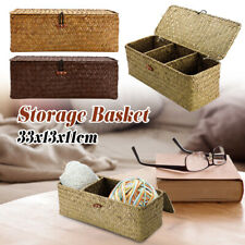 Seaweed Woven Storage Basket Fruit Sundries Home Organizer Fruit Container Bin