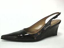 STUART WEITZMAN Low Heels Wedges Tortoise Patent Leather Shoes Fit US 5.5/6 $425