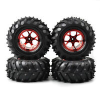RC 4Pcs Rubber Tyres Wheel 12mm Hex For HSP HPI 1/10 Bigfoot Monster Truck Car