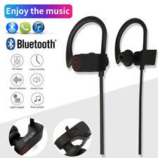 Waterproof Bluetooth Earbuds Sports Wireless Headphones in Ear Gym Headset w/Mic