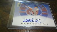 2002 TOPPS BRAD WILKERSON TA-BW  AUTOGRAPHED BASEBALL CARD