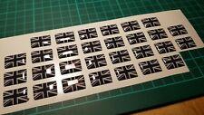 2x Small Carbon Union Jack Badge sticker emblem
