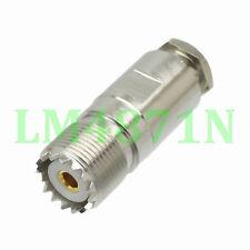 Разъем 1pc SO239 Uhf гнездо Джек зажим RG58 RG142 LMR195 RG400 кабель прямой
