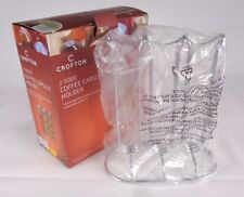 Crofton 2 Sided Coffee Capsule Holder Silver Stainless Steel Holder Stand