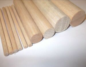 Wooden balsa dowels. Crafts. Models. *Top Quality! 5mm. 6mm. 8mm. 10mm. - 25mm..
