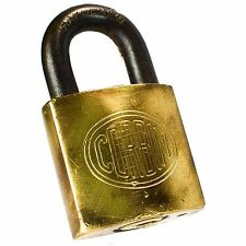 CORBIN Padlock Brass Vintage Old Antique Lock Rectangle Hardened (no key)