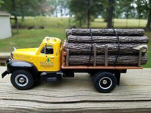 "2008 First Gear-"" WARREN TIMBER "" 1980 Mack B-Model Logging Stake Truck 1:34 NEW"