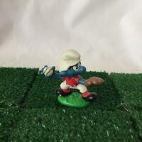 Smurfs Baseball Smurf 20166 Pitcher Rare Vintage 1980s Figure Toy Schleich