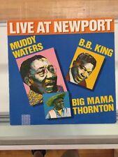Muddy Waters Live at Newport Folk Fest LP 1960 Blues Vintage D24