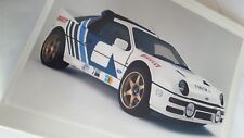RS 200 WORKSHOP MANUAL IN  A RING BINDER --------FORD RS200-RARE AND EXPENSIVE!