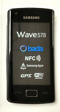 SAMSUNG WAVE 578 UNLOKCED QUADBAND CAMERA, BLUETOOTH, FULL TOUCH GSM CELL PHONE.