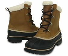 NEW CROCS Men's AllCast II Snow Boot, Wheat/Black UK SIZE 9 10 11
