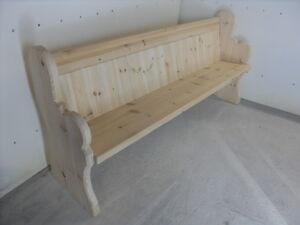 Church Pew - Bench - 4/5/6 ft - Antique/ Medium Oak - Forest