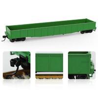 1pc/2pcs/3pcs HO Scale 53ft Gondola Car Green Wagon 1:87 Rolling Stock Railway