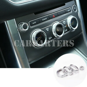 For Land Rover Range Rover Sport 4pcs Console Air Condition Knob Cover 2014-2017
