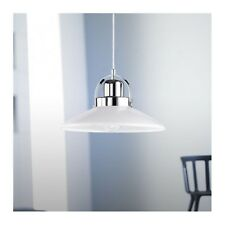 WOFI lámpara colgante Pinot 1 Luz Cromo Vidrio Blanco ø30 cm E27 Regulable