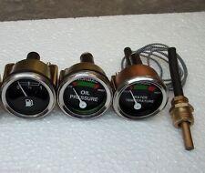 Massey Ferguson Gauge Set- Oil Pressure (Male), Temp, Fuel MF 35,50,65,135,150