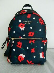 NWT KATE SPADE NEW YORK CHELSEA WHIMSY MEDIUM FLORAL BACKPACK wkr00585