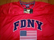 MENS NWT FDNY COLESSUEM 9/11 FOOTBALL JERSEY TRIBUTE XL God Bless America