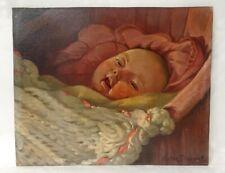 HSP portrait bébé couffin enfant Victor Dupont XXème siècle