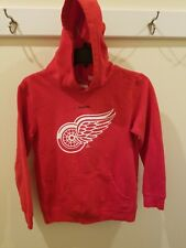 Youth Reebok Detroit Red Wings Hoodie Size Medium 10-12 Red